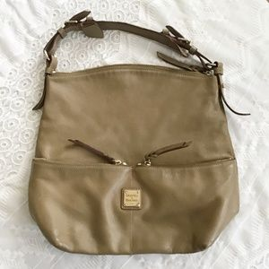Dooney & Bourke Taupe Tan  Leather Handbag